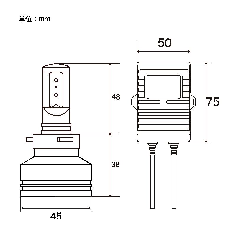 ZRAY 8 LED コンバージョンキット HB3/4 2600K