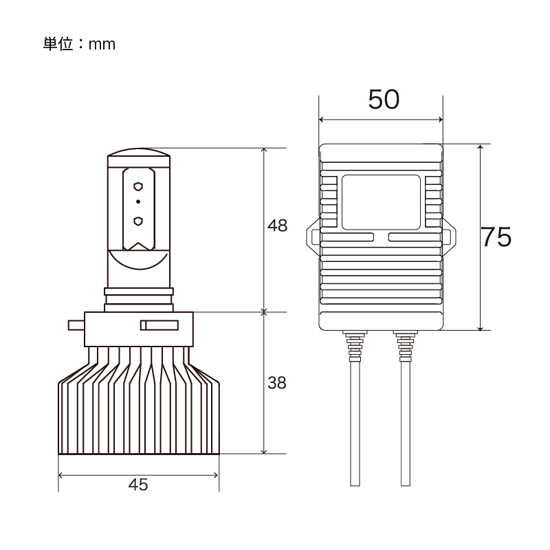 Zeus COUGAR LED コンバージョンキット ハイビーム専用 HB3/4