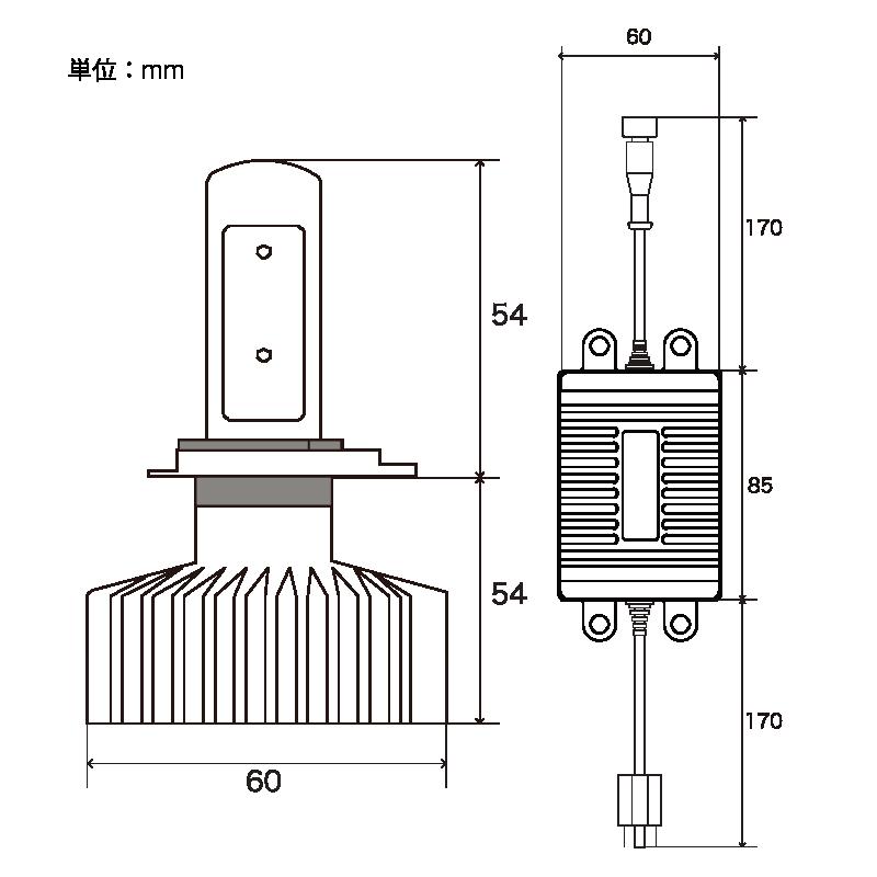 Zeus COUGAR LED コンバージョンキット 24V車専用 H4