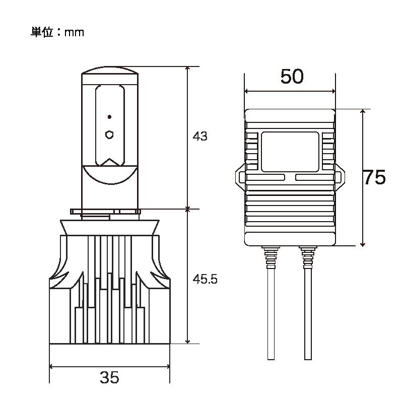 ZEYE LED コンバージョンキット フォグライト用 イエロー H8/11/16 2800K