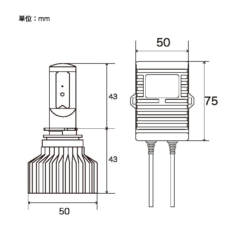 ZRAY LED コンバージョンキット プロジェクターヘッドライト推奨 H11