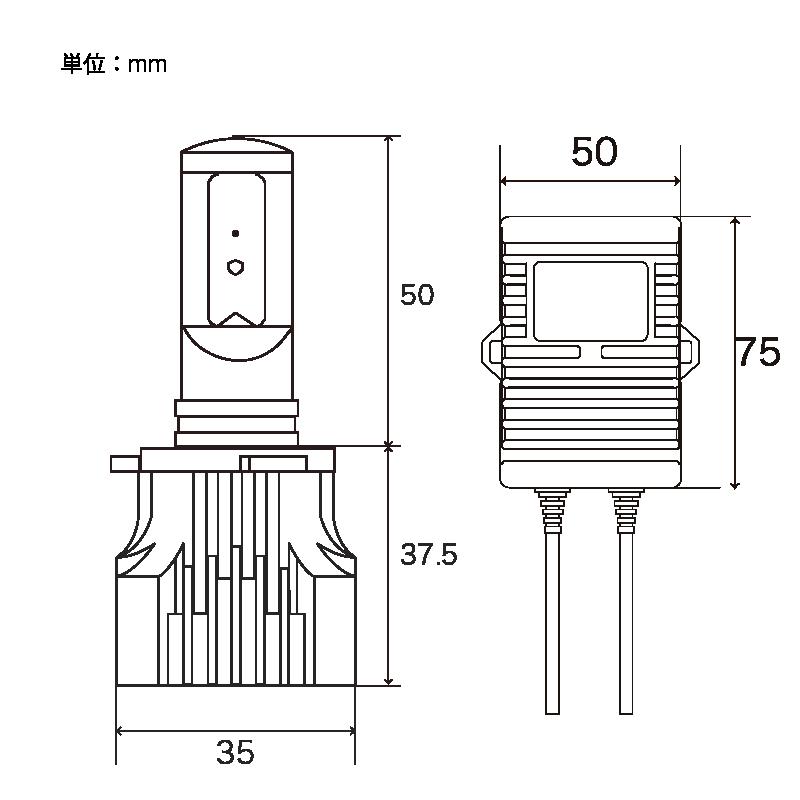ZEYE LED コンバージョンキット フォグライト用 イエロー HB4 2800K