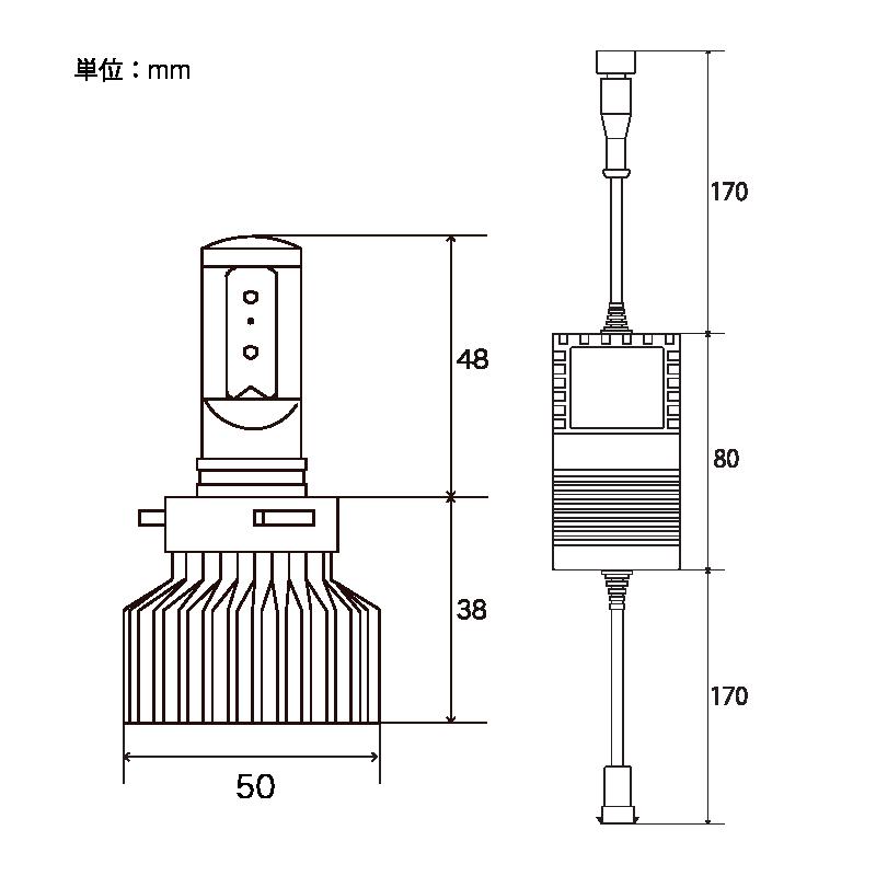 ZRAY LED コンバージョンキット ヘッドライト用 HB3/4